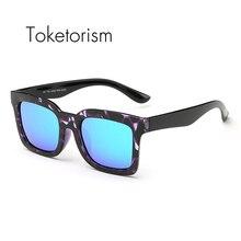 Toketorism Hot New 2017 fashion Chic women men's tr90 ultra light uv400 polarized coating sunglasses 7038