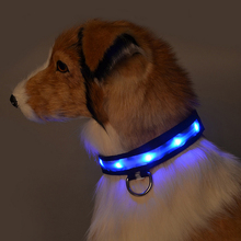Puppy Pet Collars Rope Belt LED Flashing Dog Harness Safety Lead Nylon Collars Night Lighting Belt Safety Portable Supplies
