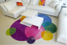 Gradient Rainbow Modern Handmade carpets Living room Bedroom Fashion creative Coffee table sofa Individuality Trend Carpet