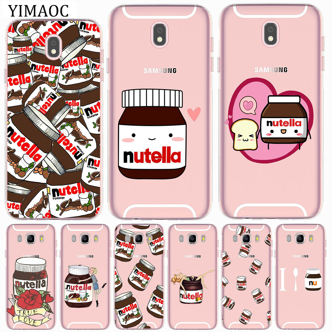 Coque en Silicone souple Tumblr Nutella, pour Samsung Galaxy J8 J7 J6 J5 J4 J3 2017 A2 Core 2016 A5 A9 A8 A7 A6 Plus 2018