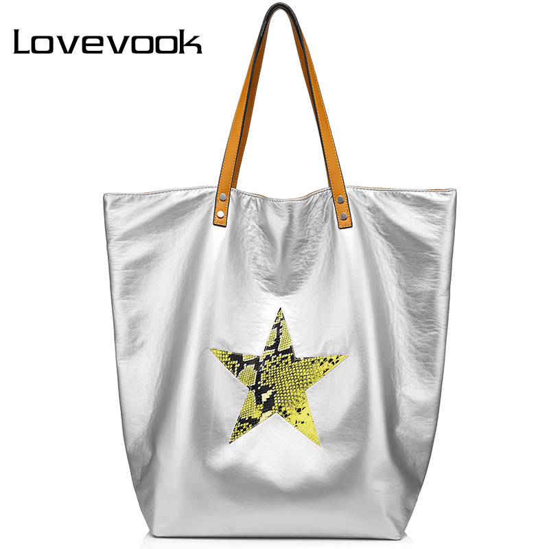 LOVEVOOK Fashion Women Bag Female Handbag Large Capacity Ladies Shoulder Bag Double Side Available Casual Tote Bags Canvas