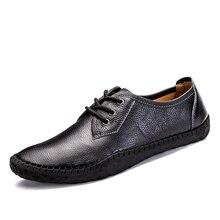 Британский Деловые повседневные туфли Мужские туфли-оксфорды ручной работы 100% Пояса из натуральной кожи Туфли без каблуков Для мужчин Демисезонный Sapato masculino