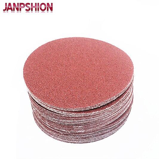 JANPSHION 50 darabos piros kerek csiszolópapír flocking öntapadós - Csiszolószerszámok - Fénykép 3