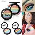 2016 Hot Rainbow Pó Brilho Iluminador Maquiagem Nu Da Marca Da Sombra Da Sombra de Olho Corar Bronzer Contour Maquiagem Nude