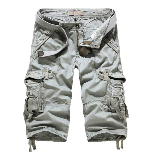 Summer Hot Calf-length Cargo Pants Men Casual  Military Men Trousers