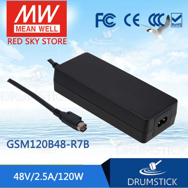 ФОТО Redsky1 [YXYW] Hot! MEAN WELL original GSM120B48-R7B 48V 2.5A meanwell GSM120B 48V 120W AC-DC High Reliability Medical Adaptor