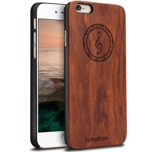 Karstadt Alami Kayu Bambu Pelindung Hard Case Cover PC Bumper Untuk - Aksesori dan suku cadang ponsel - Foto 3