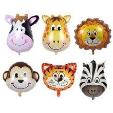 Cartoon Animal Head Aluminum Foil Balloon Farm Theme Balloon Wedding Decor Children Birthday Party font b