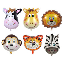 Cartoon Animal Head Aluminum Foil Balloon Farm Theme Balloon Wedding Decor Children Birthday Party Decoration