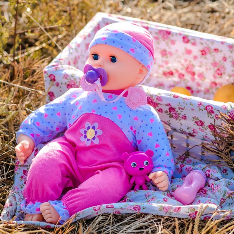 KALEETO Reborn bébé parlant interactif poupée intelligente costume de docteur virtuel peut parler peut plus grand fille poupée Imitation poupée ensemble