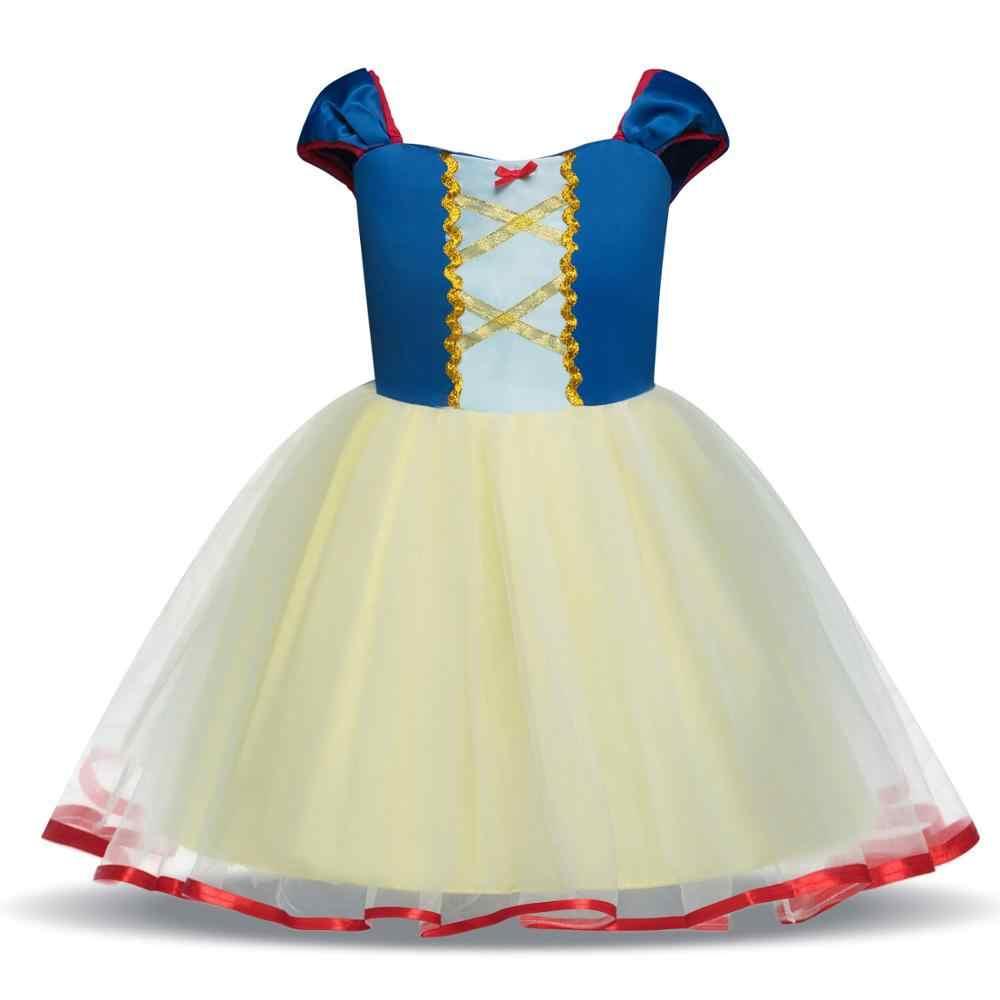 Vestidos de bebê Menina Branca de Neve Cosplay para a Festa de Meninas Vestido de Princesa Crianças Costume de Natal Infantil Bonito Vestido de Tule Tutu 1-5Y