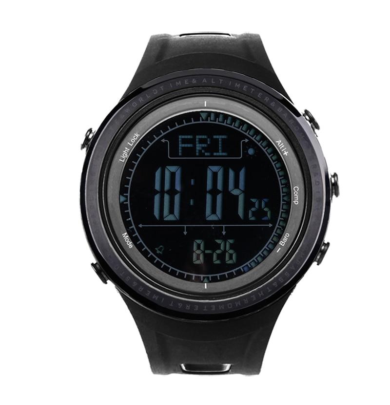 SUNROAD Men's Digital Outdoor Sports Watch-5ATM Waterproof Altimeter Compass Stopwatch Barometer Pedometer Swimming Wristwatches