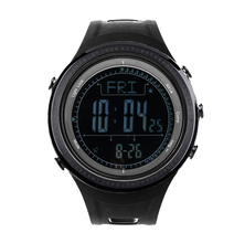 SUNROAD Men's Digital Outdoor Sports Watch-5ATM Waterproof Altimeter Compass Stopwatch Barometer Pedometer Swimming Wristwatches sunroad fishing barometer watch fr720a men altimeter thermometer weather forecast 50m waterproof stopwatch smart watch black