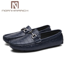 NORTHMARCH Summer Shoes Men Classic Leather Loafers Mens Slip-On Driving Shoes Men Crocodile Pattern Men Casual Shoes Moccasins
