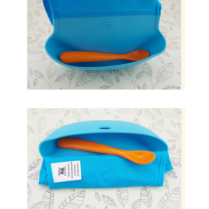 4 Colors Body Shell Silicone Baby Bibs Waterproof Three-Dimensional Food Pocket Bibs Baby Feeding Products Burp Cloths