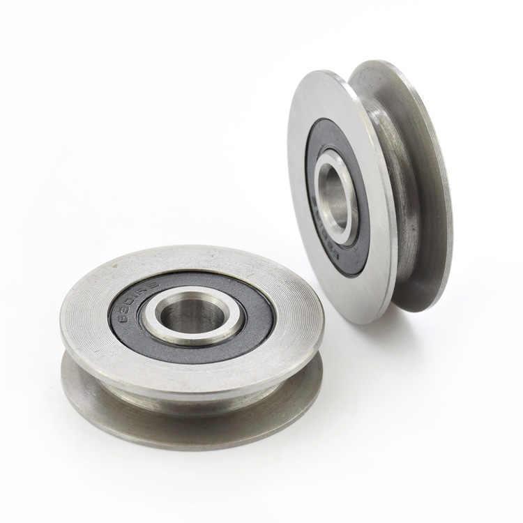 12*50*13 millimetri 6301RS cuscinetto cuscinetti in acciaio, U scanalature V fondo tondo 5 centimetri puleggia, 6 millimetri ruota di guida, filo di corda di sollevamento ruota