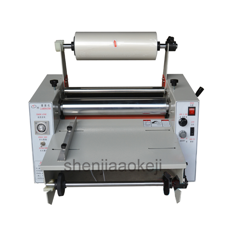Paper laminating machine DC-380 hot laminator 365mm laminating machine Steel roller mulching machine Laminator 220V/110V 1pc fm 380 paper laminating machine students card worker card office file laminator steel roll laminating machine