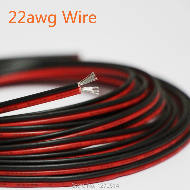 8m/lot, 2 pin Red Black cable, Tinned copper cable 22AWG, PVC ...