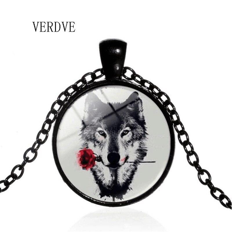 Verdve 2018 Новый 3/Цвет ювелирные изделия кристалл Цепочки и ожерелья время волк тотем кулон Цепочки и ожерелья Для Мужчин's Цепочки и ожерелья