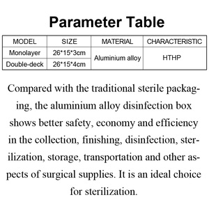 Image 5 - Imported silica gel sterilizing box aluminum alloy sterilizing box for micro ophthalmic surgery tools and instruments