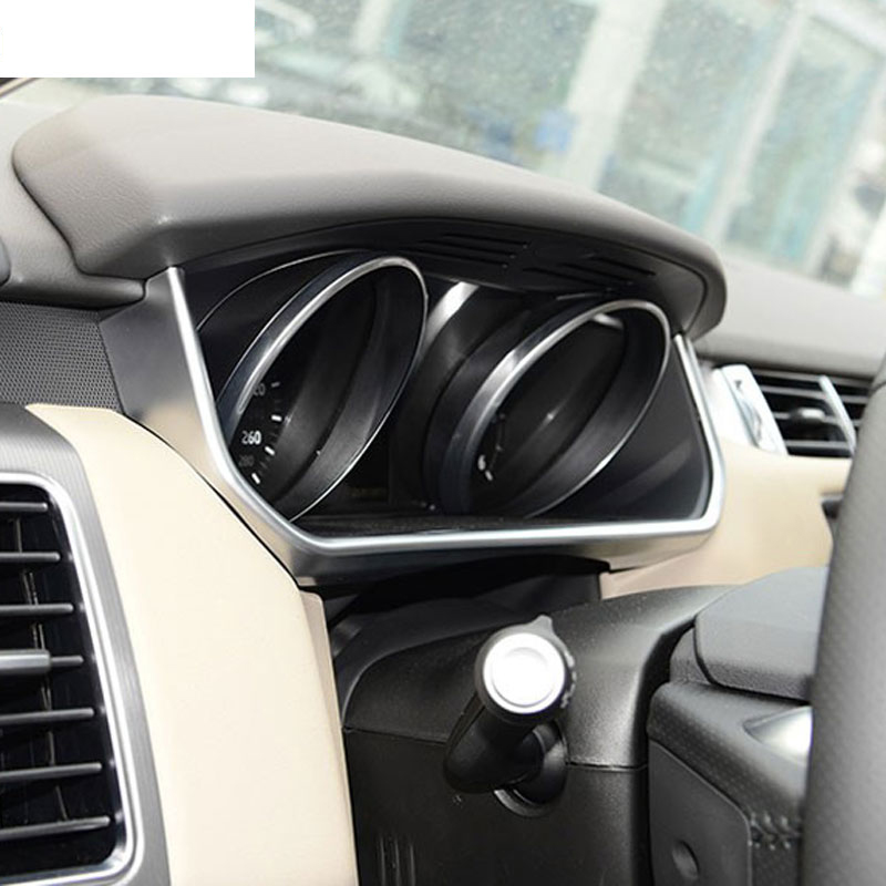 For Land Rover Range Rover Sport RR Sport 2014-2017 Accessories Car Styling ABS Chrome Car Dashboard U Shape Frame Trim 1pc коврики в салон land rover range rover evoque 2011