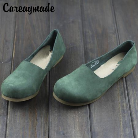 Careaymade-Spring,Genuine Leather Shoes,Pure Handmade Flat Shoes,Women the Retro Art Mori Girl Shoes, Women Fashion Casual Shoes huifengazurrcs new pure handmade casual