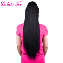 30inch Long Yaki Straight Drawstring Ponytail For Women Synthetic Fake Hair Pony TailWig Hairpieces Clip In Hair Extension trendy long natural black yaki straight afro ponytail women s drawstring hair extension