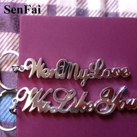 2018 Custom Keychains For Women Men Personalized Any Font Name Keychain Bag Car Charm Pendant Key Chain Ring Jewelry Accessories