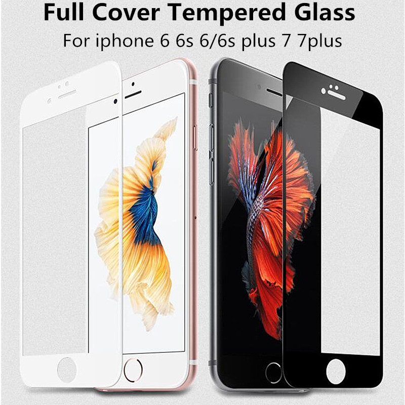 AGREAL Full Cover 9H Hard Edge Tempered Glass For iPhone 6 6s Plus 5 5s Exp..