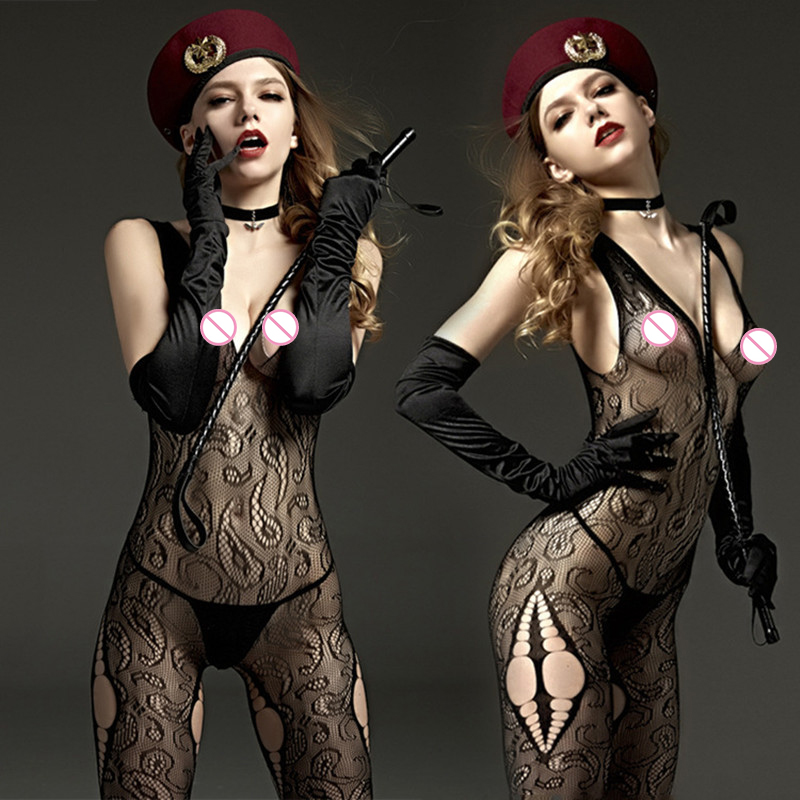 Buy Sexy black Bodystockings Sex products erotic lingerie lace sleepwear intimates Kimono Sex toys crotchless women hot bodysuits