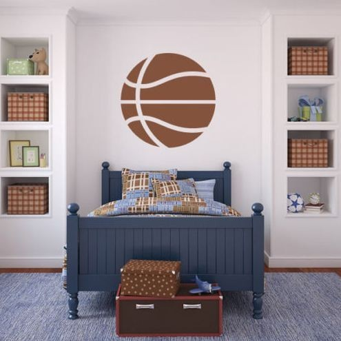 basketball ball basket sport gym wall art sticker decals