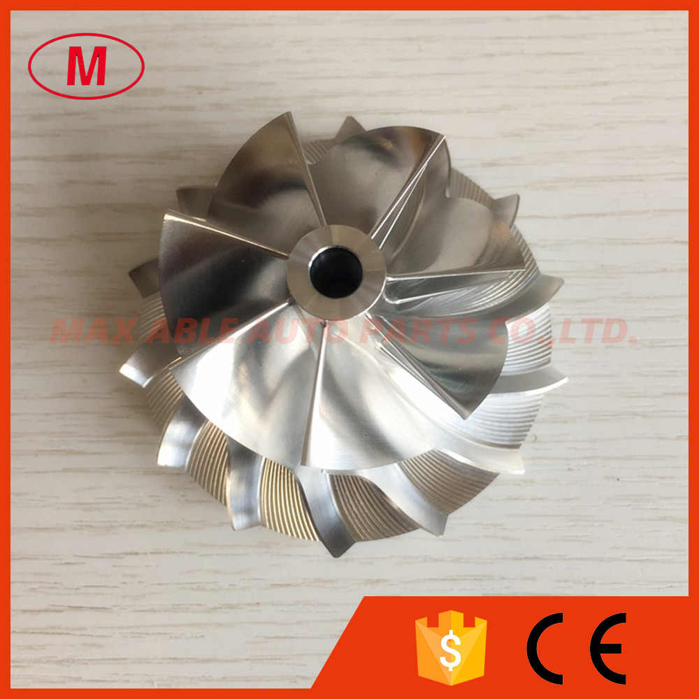 K26 51.00/71.00mm 7+7 blades high performance Billet/milling/aluminum 2024 compressor wheel  for M57D30TOP Twin Turbo-Upgrade