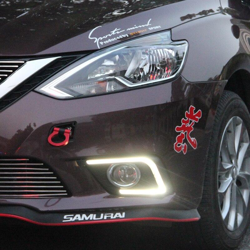 Osmrk led drl feux de jour pour Nissan Sylphy sentra 2016, conception de tube de lumière, qualité supérieure