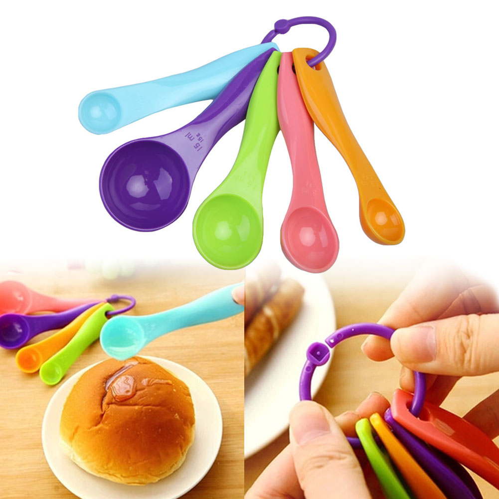 Hot 5pc Kitchen Mixed Colour Measuring Cup Spoon Set Baking Utensil Kit China