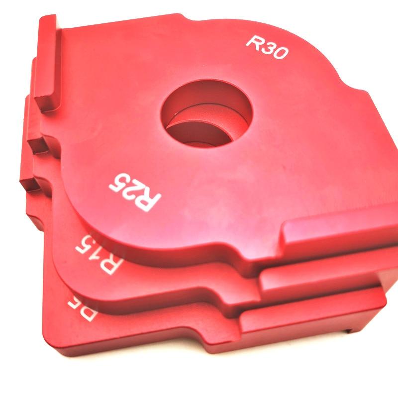 3pcs/set Wood Panel Radius Quick-Jig Router Table Bits Engraving Machine Trimmer Jig Corner Templates Kit