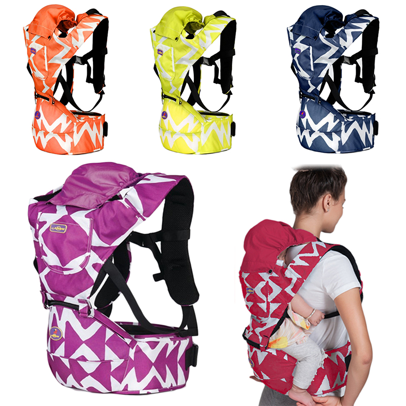 New 1 Pcs Ergonomic Baby Carrier Waterproof Backpack Hip Seat Baby Infant Detachable Baby Sling Stool Waist Baby 5 Color