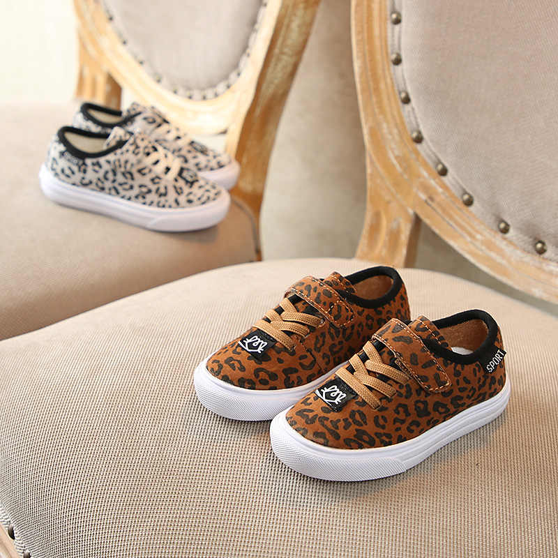 f4a586636e5c1 2019 spring new chaussure kids shoes girls leopard Fashion boys shoes suede  sneakers Super soft and