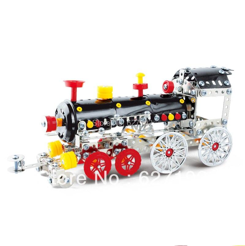 2015 Vente Chaude Diy 3d Classique Alliage Machines À Vapeur Train Modèle Assemblage Jouet Jouets Éducatifs Pour Enfants Maison De Voiture Ornements