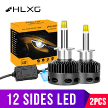 luces led para auto Slim H1 H7 LED H11 H8 HB3 9005 9006 Fog Lights Headlight Bulbs D1S D2H D2S D3S D4S accessories for cars 12V