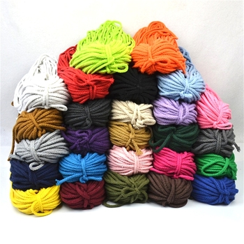 5mm*100yards Colorful White Cotton Cord Natural Beige Twisted Cord Rope Craft Macrame String DIY Home Decorative supply