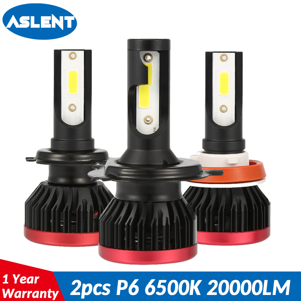 ASLENT H7 Mini <font><b>LED</b></font> H1 <font><b>H3</b></font> H4 H11 H8 HB3 HB4 9005 9006 Headlight Bulbs Auto Fog Light 100W <font><b>20000LM</b></font> 6500K White Car Syling Lamp 12V image