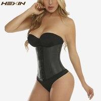 HEXIN 9 стали кости 100% латекс талии тренер корсет сексуальный для женщин средства ухода за кожей Shaper Талии Cincher грудью Корректирующее белье