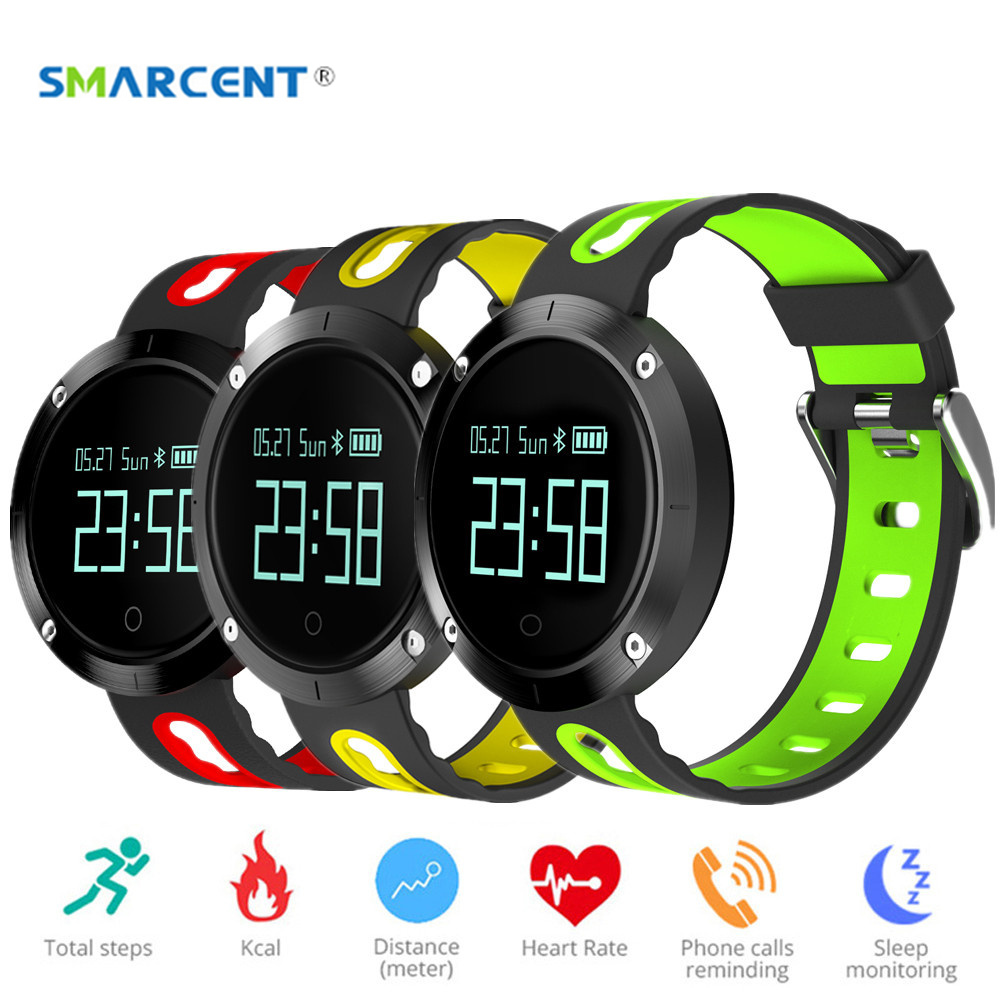SMARCENT DM58 Smartband Watch T1 IP68 Waterproof Blood Pressure Heart Rate Monitor Bracelet Call SMS Reminder