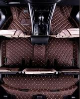 Customized full covered car floor mats for Volkswagen Sharan 7seats waterproof carpets for Sharan