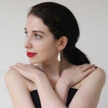 Lily Flower 999 Sterling Silver Drop Earrings For Women Dangle Ethnic Earring Handmade Luxury Jewelry Vintage Korean Fashion