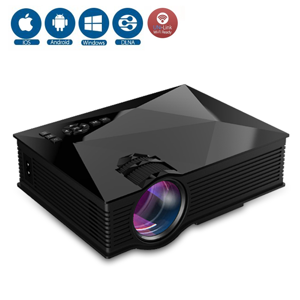 UNIC UC46 LCD Mini Pico Projector Full HD 1080P Home Theater TV beamer 1200Lumens 2.4G WIFI HDMI AV USB SD IR Portable Proyetor