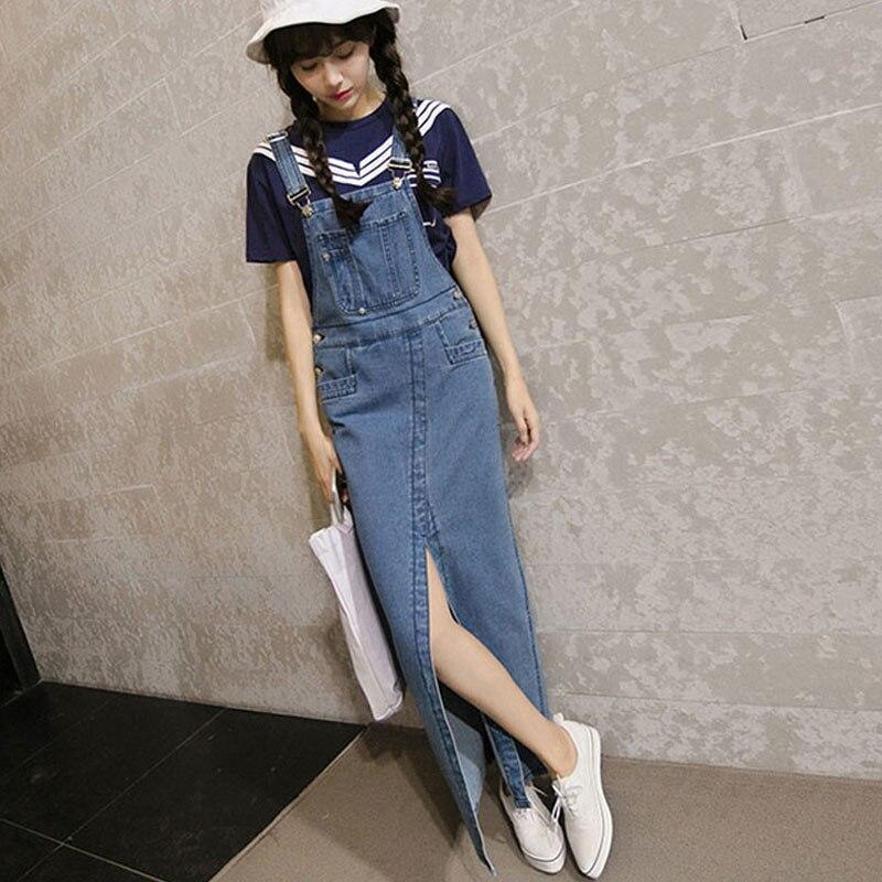 popular denim skirt jumpsuit buy cheap denim skirt