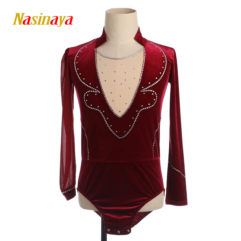 Nasinaya Boys Man Figure Skating Performance Clothing Customized Competition Ice Skating Leotard Kids Patinaje Gymnastics Dance4 in Gymnastics from Sports Entertainment
