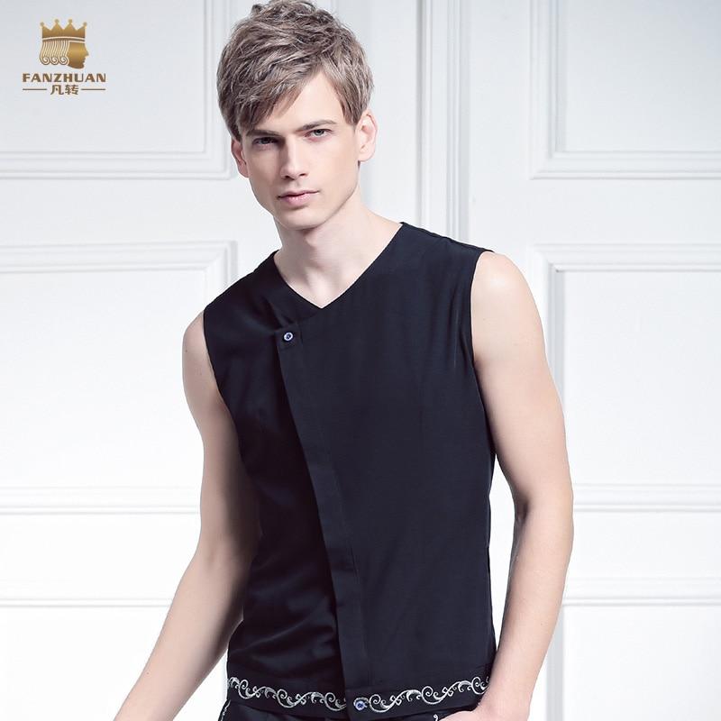FanZhuan Envío Gratis Nueva moda casual hombres hombres de la marca - Ropa de hombre