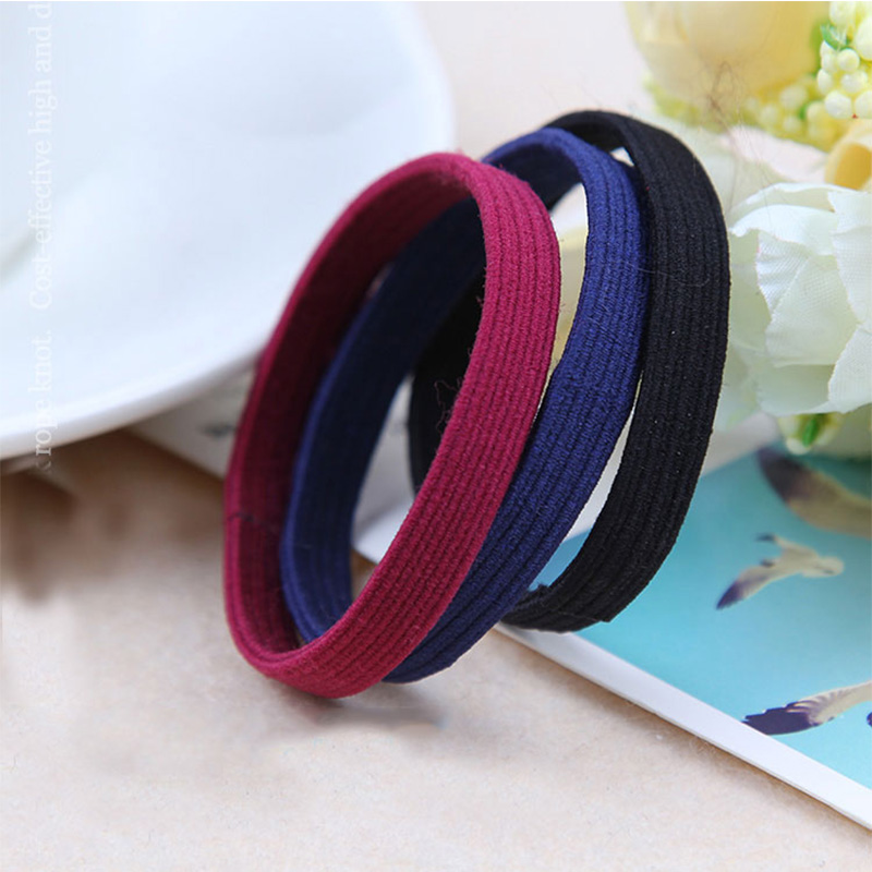 5PCS/Lot New Korean Headbands For Women Elastic Solid Seamless Hair Rope Tie Gum Rubber Hair Bands Hair Accessories For Girls 50pcs black hairband hair elastic bands for ladies elastic ring hair scrunchy tie gum headbands girls hair accessories for women